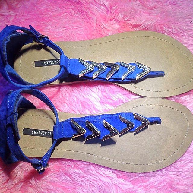 F21 blue sandal's