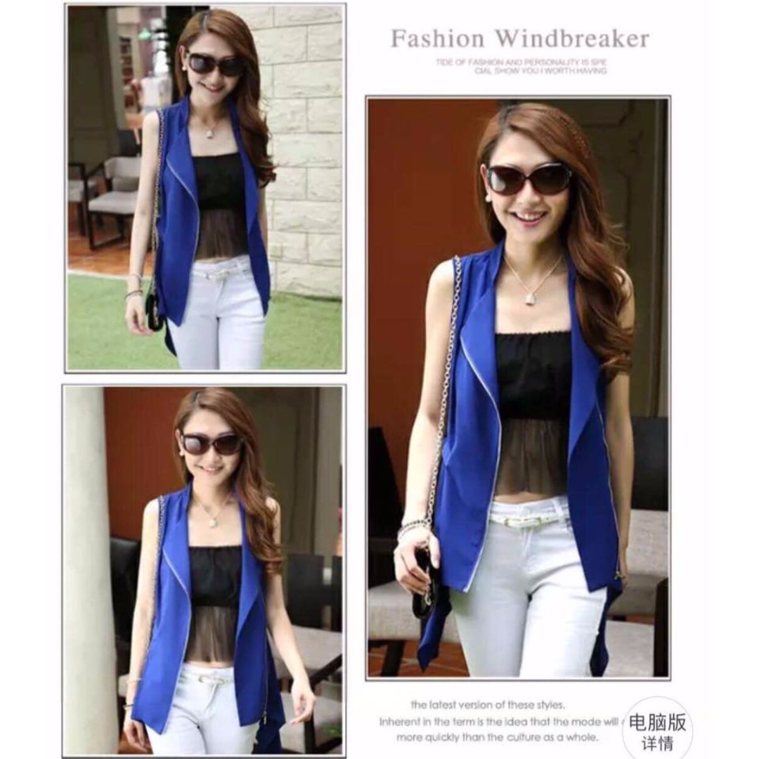 Fashionable Sleeveless Blazer