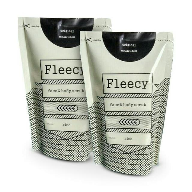 Fleecy Rice Body Scrub