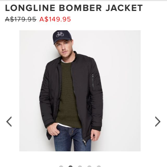 FRENCH CONNECTION MENS LONGLINE PUFFA JACKET SZ S