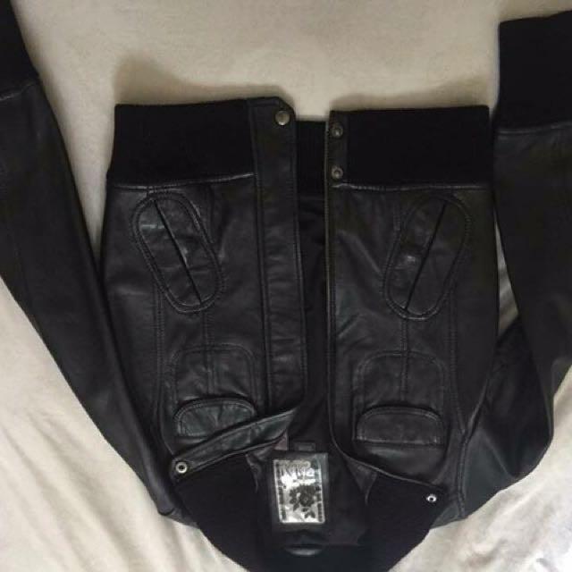 Genuine Leather Jacket Mango Collection