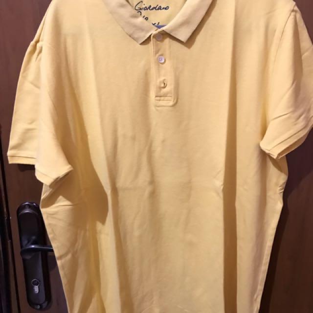 Giordano Polo Shirt - Yellow - Size XL