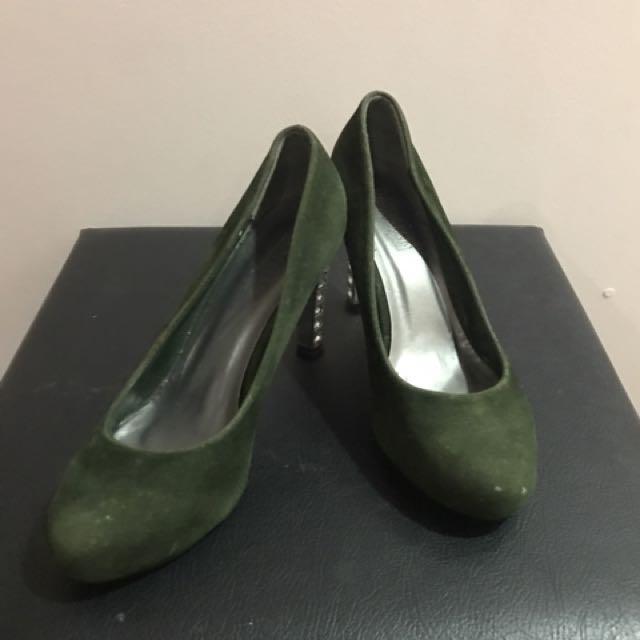 REPRICED: Parisian Green Bling-bling Stilletos ( High Heels)