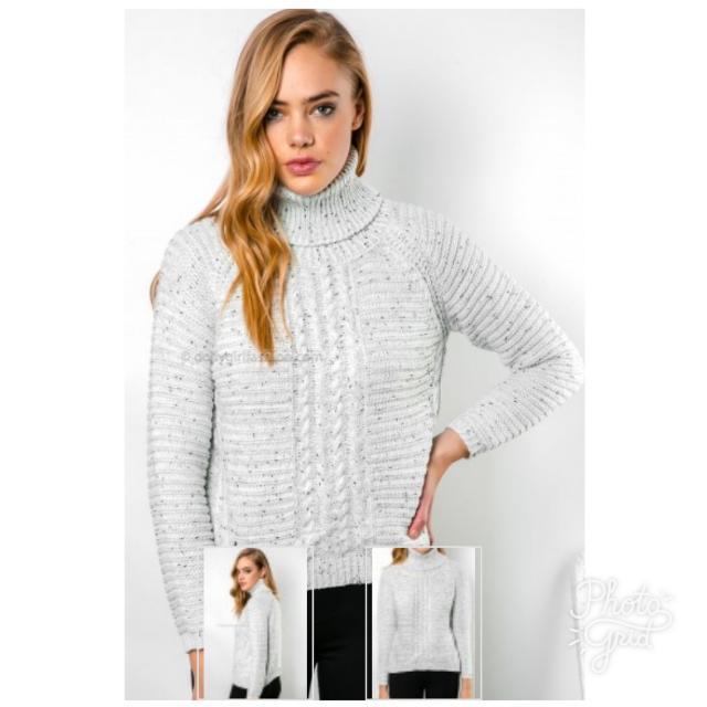 Grey Marble Sweater