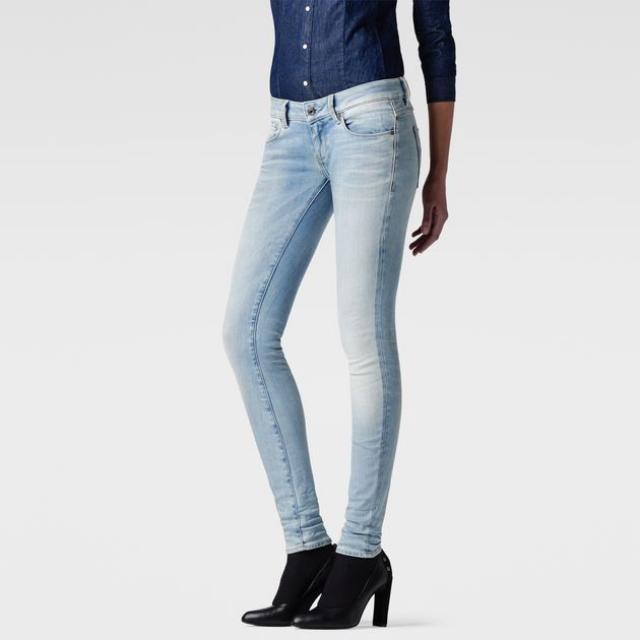 G-Star 3301 Low Waist Super Skinny Jeans - Light Aged W26 L30 (Negotiable)