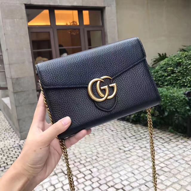 e5c45d18cc Gucci GG marmont leather chain wallet