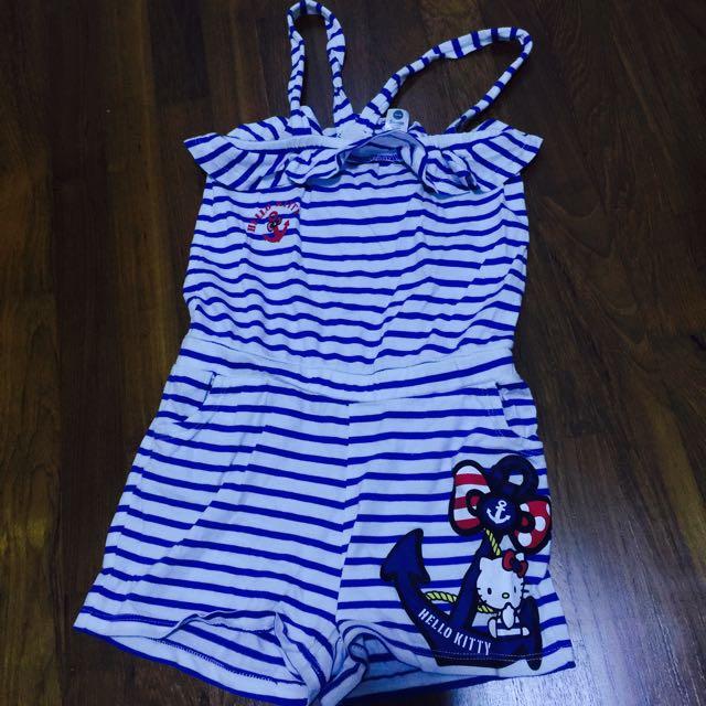 2245e1e42 Hello kitty jumper Romper H&M Nautical, Babies & Kids, Girls ...