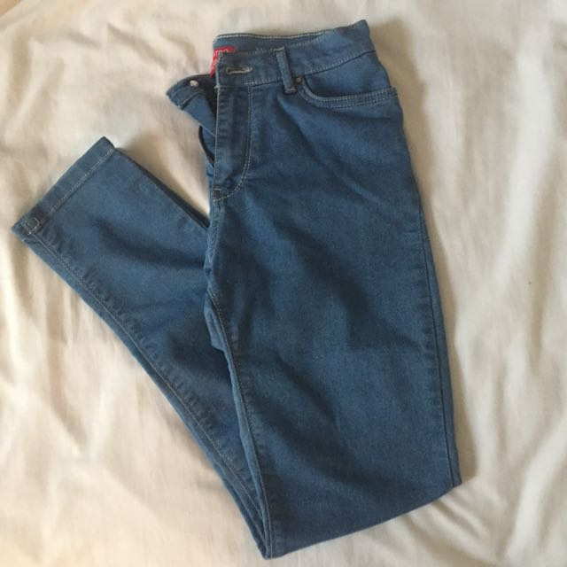 High Waist Light Wash Jeggings