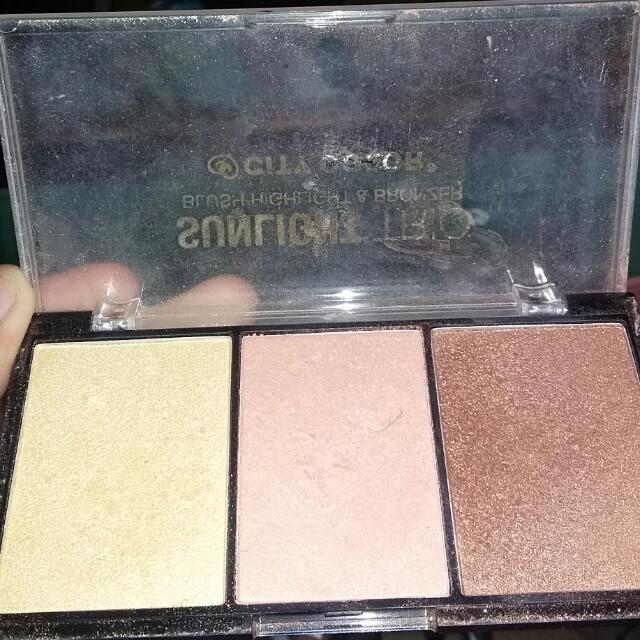 Highlight Trio City Color Cosmetics  Bronzer Highlight Blush On