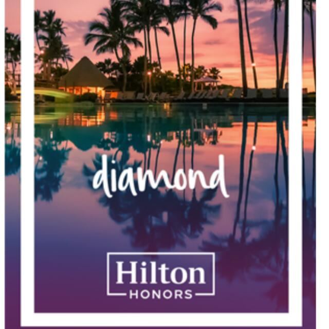 Hilton Diamond membership card (Worldwide Useable )