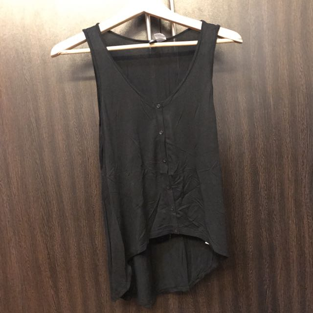 H&M Black Long Back Tank Top