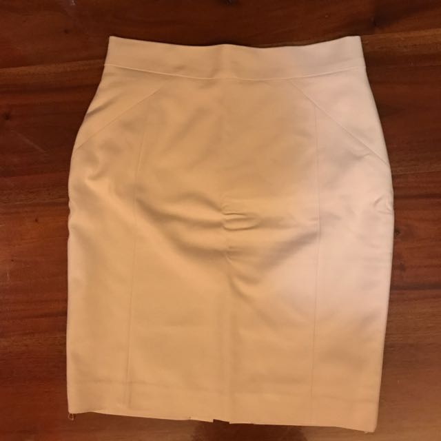 H&M Light Brown Pencil Skirt