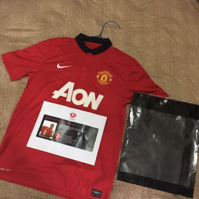 Juan Mata Signed Jersey With Certificate