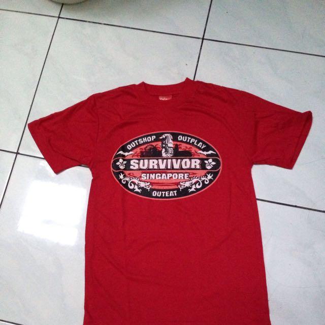 Kaos Singapore Merah