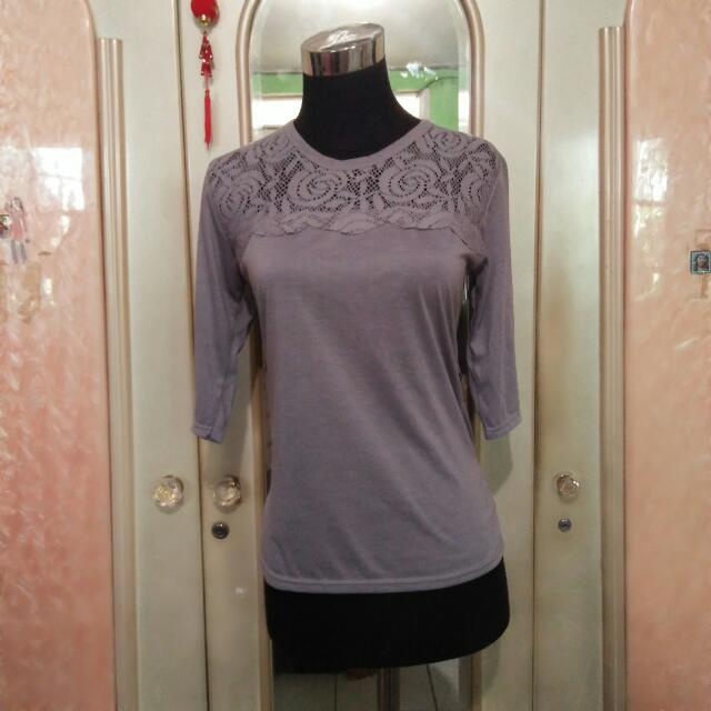 Lace Top Grey