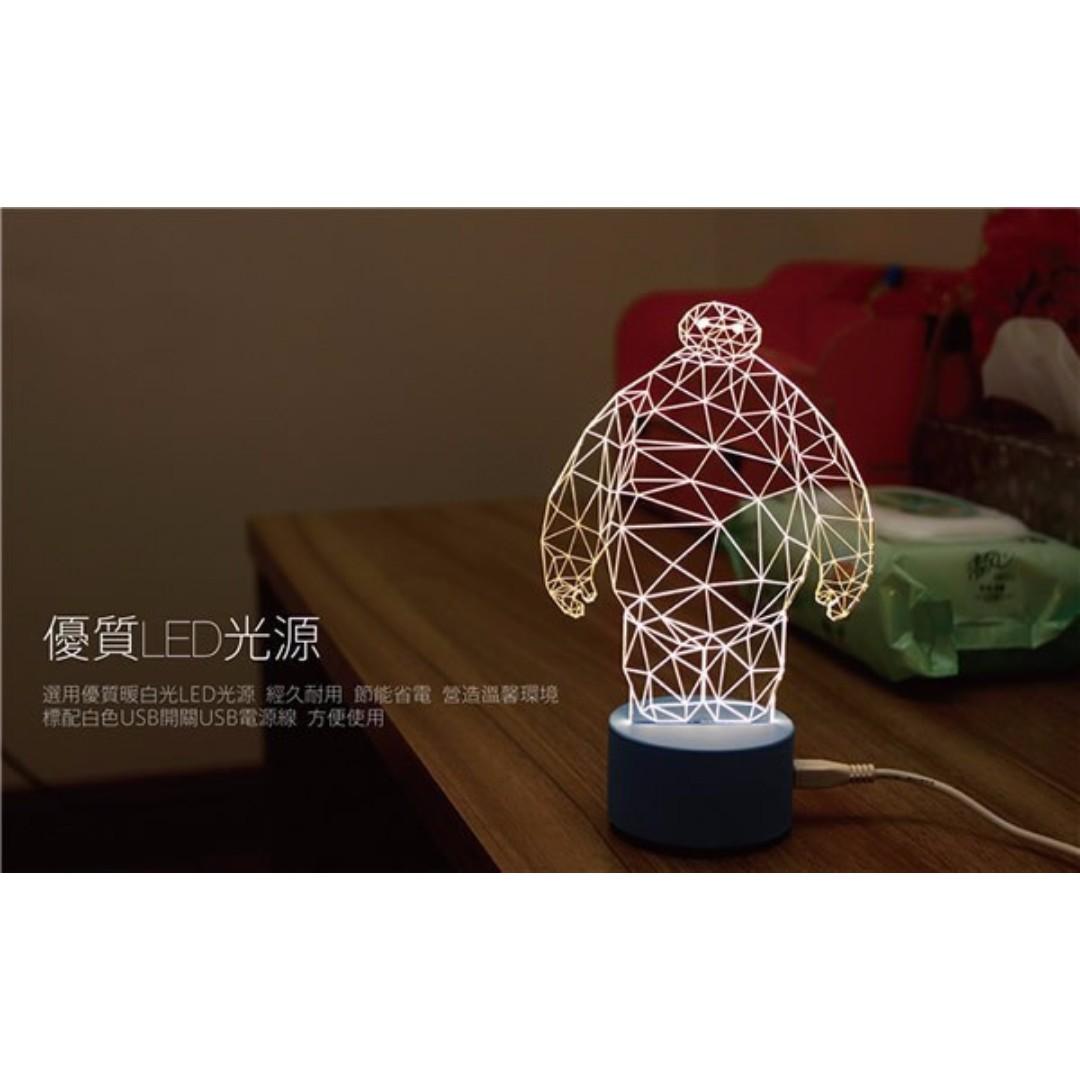 Lampu 3D LED Transparan Design Deer. Warna Putih., Home & Furniture on Carousell
