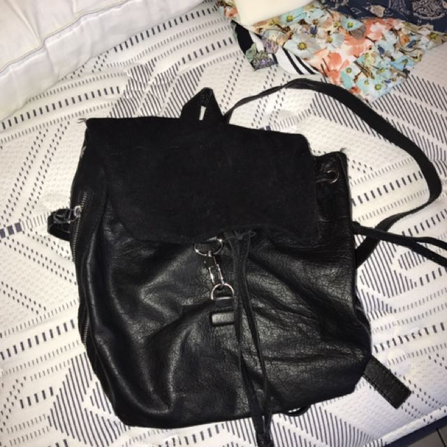 Leather/suede Backpack