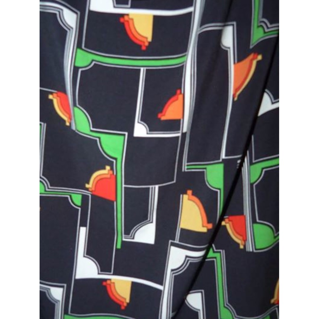 Leona Edmiston Ruby size 4 cowl neck 60's Mod dress