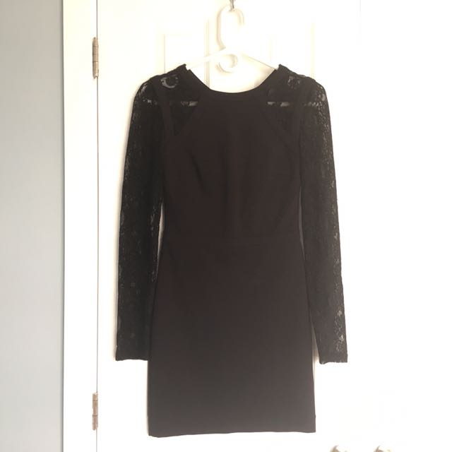 Marciano Lace Sleeved Dress