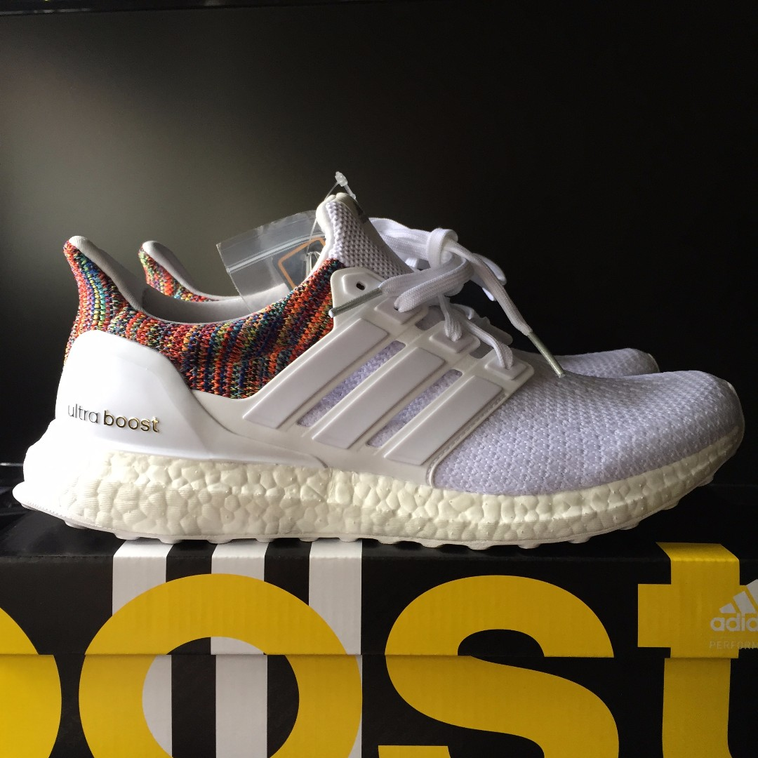 758081ad046 miAdidas Ultra Boost 2.0 ( White   Multicolor ) US9 adidas ...