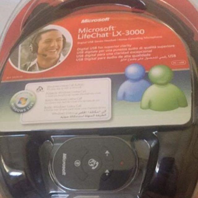 Microsoft Headset Live Chat Lx 3000