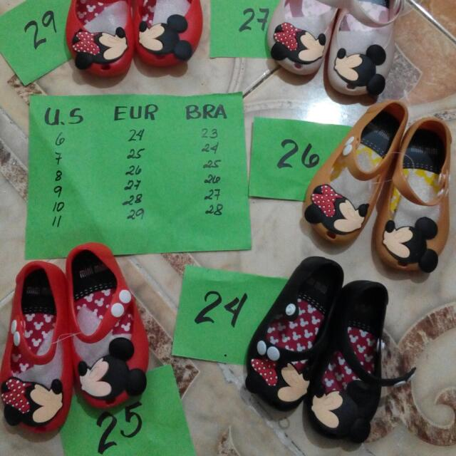 Mini Melissa Doll Shoes