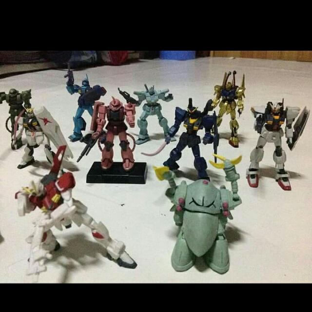 Miniature Gundam Robots From Canada, 1000 For All 19 Pieces.. 2 Inches Size, Re-Priced Updated