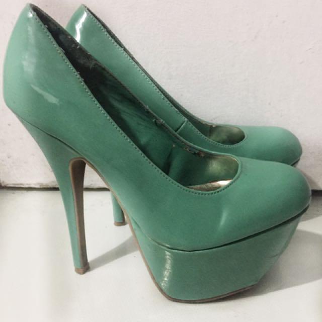 Mint Green Platform Heels On Sale!