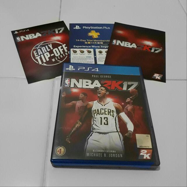 NBA 2K17 PS4 - Unused Codes