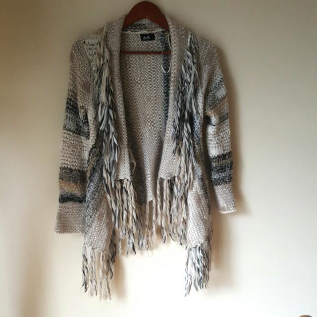 Neutral Color Cardigan - Size 8