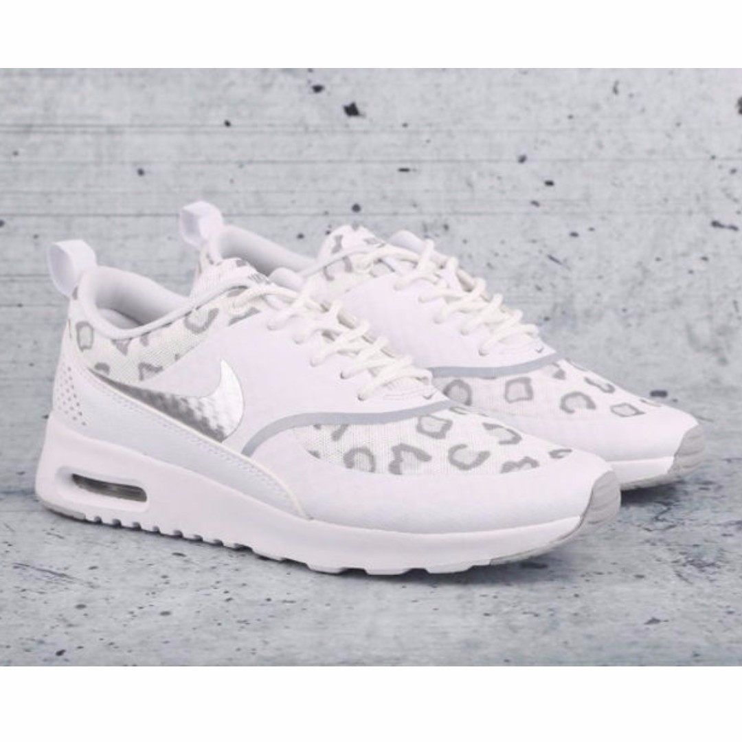 2878f55ca20 Nike Air Max Thea Cheetah Print Run in White/Wolf Grey/PurePlatinum ...