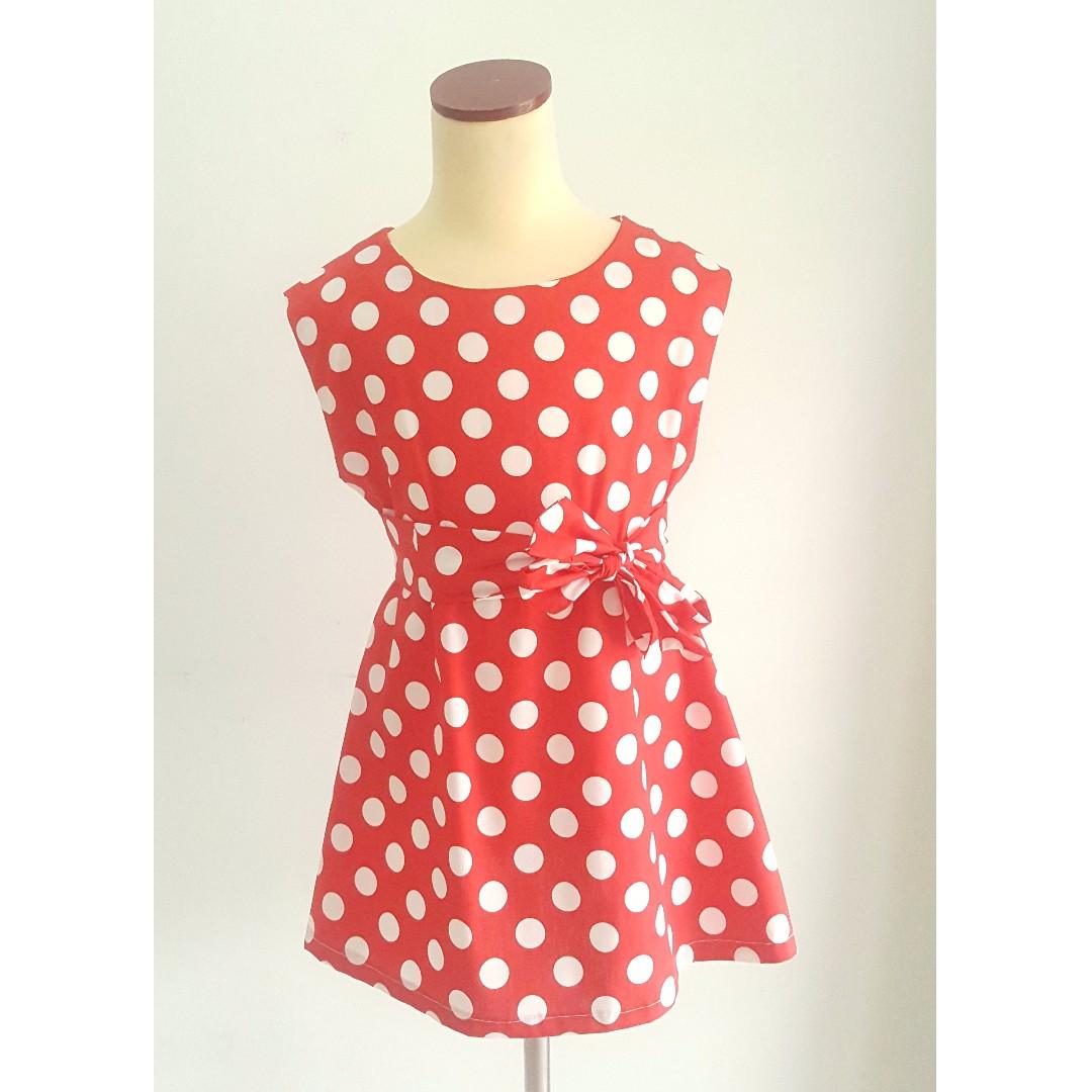 Dress Polkadot Anak Perempuan Merah Daftar Harga Terkini Dan Macbee Kids Baju Cherly Size 2 Polka Dot Untuk Bayi Di