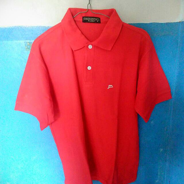 REPRICE Polo Shirt Red Simple