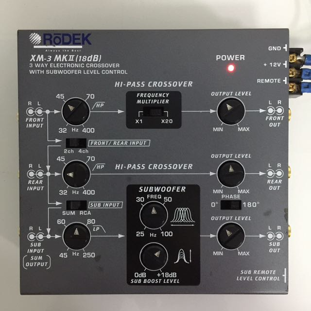 RōDEK XM-3 MKII  18dB  3-way Electronics Crossover with