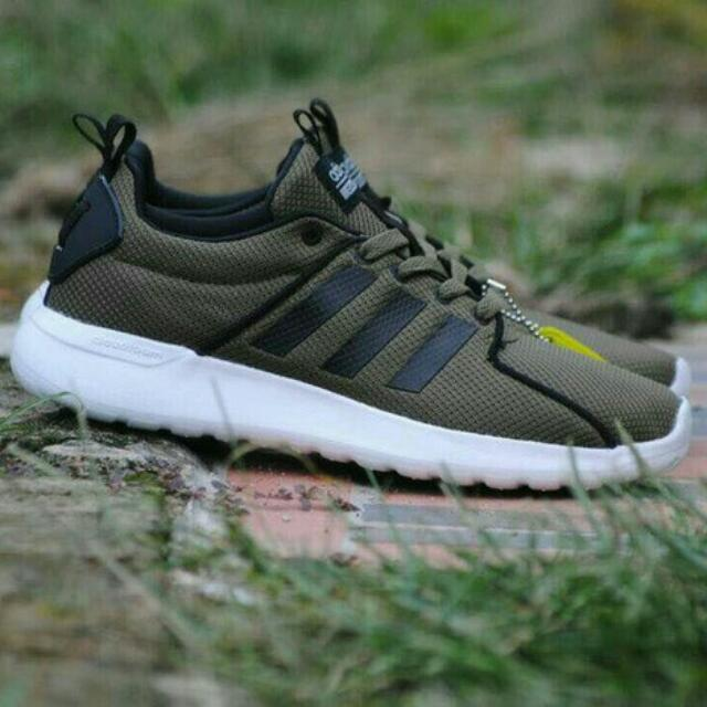 Sepatu Running Adidas Cloudfoam Lite Racer Green Olive Original BNWB  Indonesia 13c8ac6806