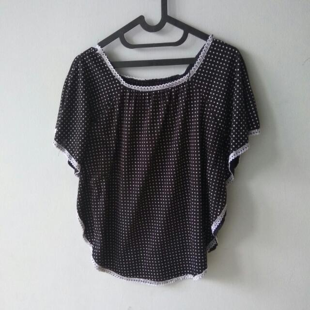 Sale (Shirt) Atasan Hitam Kotak Kotak Big Size Model Kaos Batwing Size XL