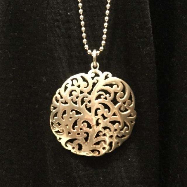 Sterling Silver Pendant With Bead Necklace