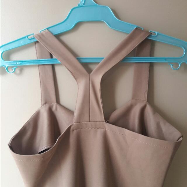Skin Tone Sexy Back Dress Php120