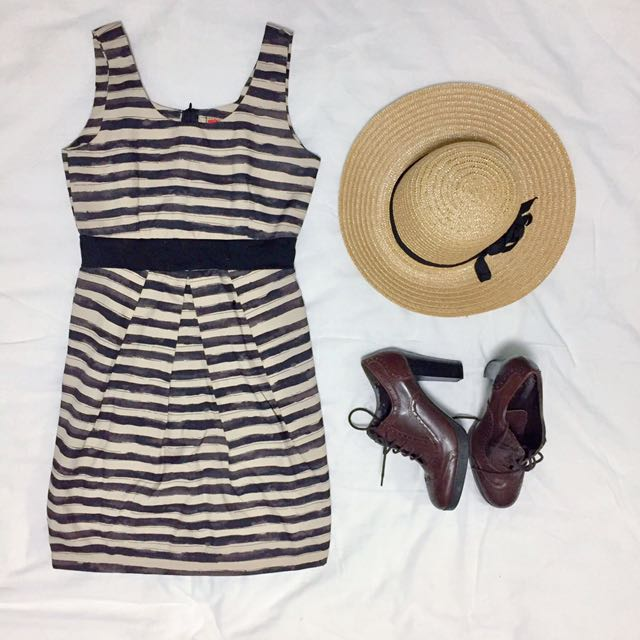 Stripe Cocktail Dress