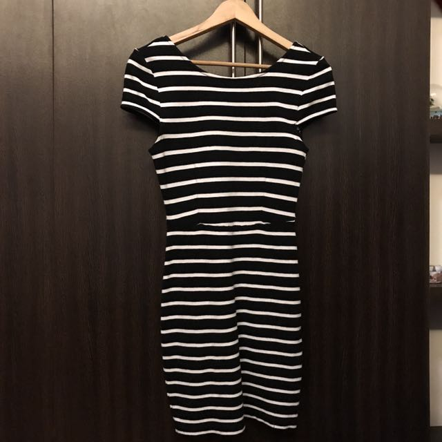 Striped Pencil Dress