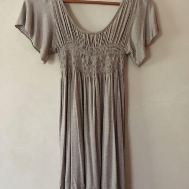 Taupe Babydoll Dress