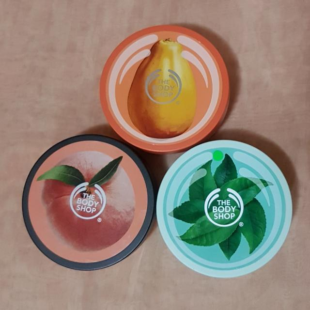 The Bodyshop Body Butter Cream Papaya, Peach & Fuji Greentea