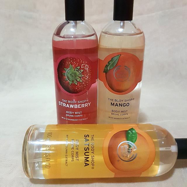 The Bodyshop Bodymist Strawberry Satsuma Mango