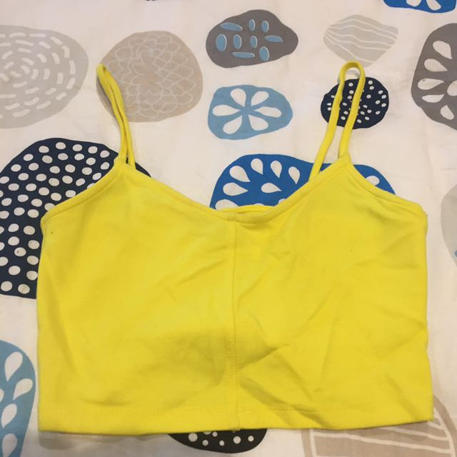 Topshop Fluro Cropped Singlet