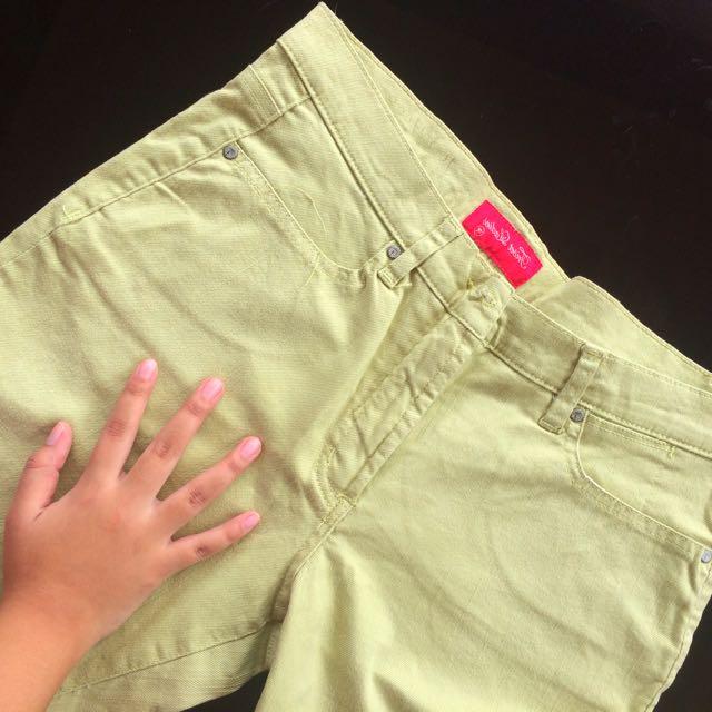TRISET Lime Green Denim Pants