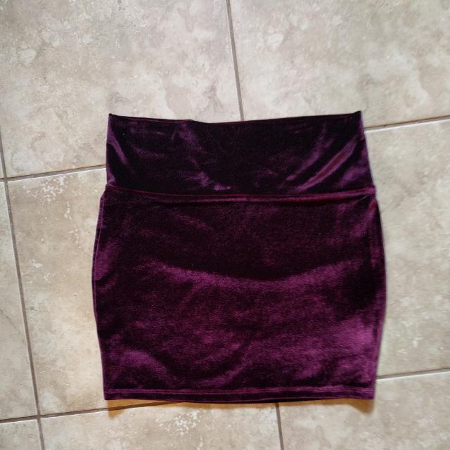 Velvet Tube Skirt