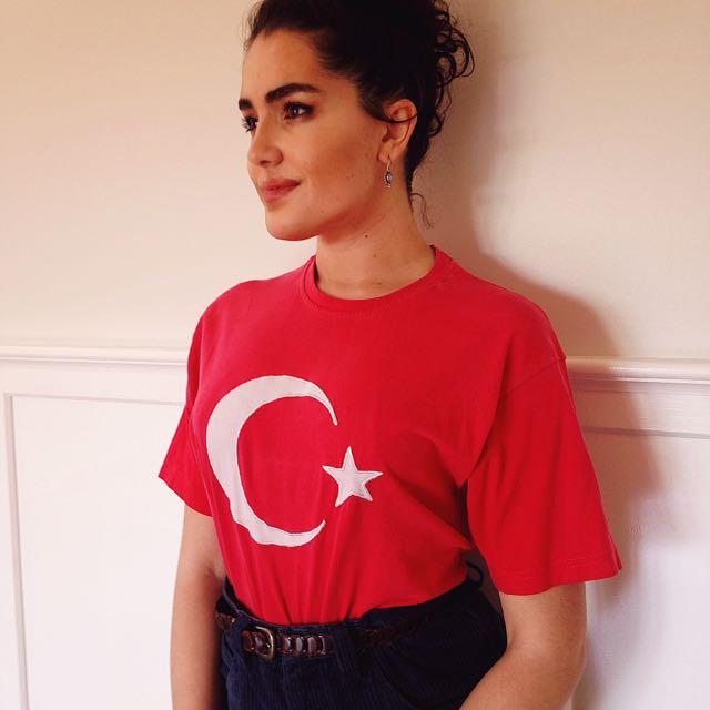 Vintage 90s Turkish Flag Shirt