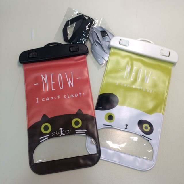Waterproof Phone Cases (Line and Cat design)