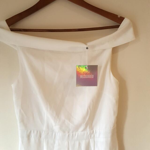 #jumpsuitsale White Bardot Jumpsuit New With Tags - Size 12