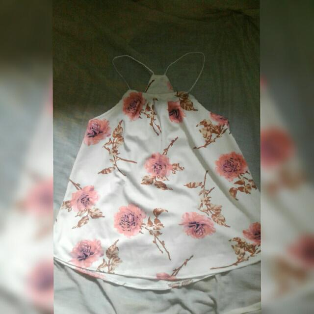 White Flower Sleeveless
